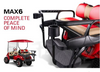 Doubletake MAX 6 HELIX Deluxe Golf Cart Rear Seat Veranda Sand Series Cushion Set