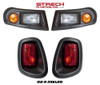 E-Z-GO RXV Headlights,LED Taillights&Wire Harness-Smooth Blk