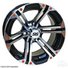 "14"" RHOX RX353 Machined w/ Black Wheel w/ Chrome Center Cap, 14x7 ET-25"