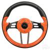 "Club Car Aviator 4 Orange Steering Wheel 13"" Diameter"