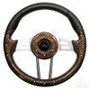 "Club Car Aviator 4 Woodgrain Steering Wheel 13"" Diameter"