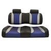 Club Car Precedent Madjax Tsunami Black–Liquid Silver w/ Freestyle Wave Front Seat Cushions (Years 2004-2011)