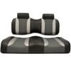 Club Car Precedent Madjax Tsunami Black–Liquid Silver w/ Lagoon Gray Front Seat Cushions (Years 2004-2011)