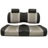 Madjax Tsunami Black‰ö_墉Û_Ìà嬉Û_Ìã̼Liquid Silver w/ Silver Rush Club Car Precedent Front Seat Cushions