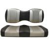 Madjax Tsunami Black Liquid Silver W/ Silver Rush Custom Rear Seat Cushions