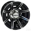 "10"" RHOX RX150, 8 Spoke Machined w/Gloss Black Wheel w/ Center Cap, 10x7 ET-22"