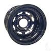 """10"""" Steel, Black 8 Window Wheel, 10x7 3:4 offset"""