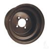 "10"" Steel, Black Wheel, 10x8 3:5 offset"