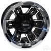 "12"" RHOX RX286, Machined Gloss Black Wheel, 12x7 ET-25"