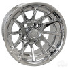 "12"" RHOX RX102, 12 Spoke, Chrome Wheel w/ Center Cap, 12x7 ET-25"