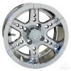 "12"" RHOX RX254, Chrome Wheel w/ Center Cap, 12x7 ET-25"