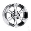 "12"" ITP SS112, Machined Wheel w/ Center Cap, 12x7"