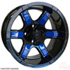 "14"" RHOX RX262, Black Wheel w/ Center Cap, 14x7 ET-25"