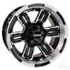 """14"""" RHOX RX285, Machined Gloss Black Wheel w/Gloss Black Inserts, 14x7 ET-25"""