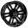 "14"" RHOX RX285, Gloss Black Wheel w/Silver Inserts, 14x7 ET-25"