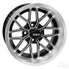 "14"" RHOX RX281, Machined Gloss Black Wheel, 14x7 ET-25"