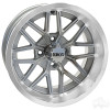 "14"" RHOX RX281, Machined Silver Wheel, 14x7 ET-25"