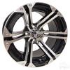 "14"" RHOX RX350, Machined w/ Black Wheel w/ Center Cap, 14x7 ET-25"