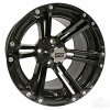 "14"" RHOX RX351, Gloss Black Wheel w/ Center Cap, 14x7 ET-25"