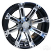 "14"" RHOX Vegas, Machined w/Black Wheel w/ Center Cap, 14x6 ET-0"