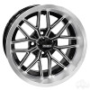 "14"" RHOX RX282, Machined Gloss Black Wheel, 14x6 ET-10"