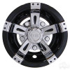 "RHOX Wheel Cover, 8"" Vegas Chrome/Black-Set of 4"