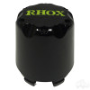 RHOX Snap-In Center Cap, Black with Green -Set of 4
