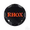 RHOX Snap-In Center Cap, Black with Orange  -Set of 4