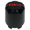 RHOX Snap-In Center Cap, Black with Red -Set of 4
