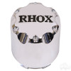 RHOX Snap-In Center Cap Chrome with Black-Set of 4