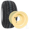 "8"" Kenda Hole-In-One Tire and Wheel Combo, Mounted on Beige Steel"