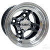 "8"" RHOX Brickyard, Machined w/Black Wheel w/ Center Cap, 8x7 ET-27"