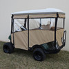 "Odyssey Enclosure in Beige for carts w/RHOX 88"" Top, fits E-Z-Go RXV w/ rear seat"