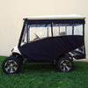 "Odyssey Enclosure in Black for carts w/RHOX 88"" Top, fits E-Z-Go TXT 2014+ w/ rear seat"