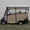 "Odyssey Enclosure in Beige for carts w/RHOX 88"" Top, fits Club Car Precedent w/ rear seat"