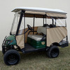 "Odyssey Enclosure in Beige for carts w/RHOX 88"" Top, fits Yamaha Drive w/ rear seat"