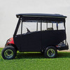 "Odyssey Enclosure in Black for carts w/RHOX 88"" Top, fits Yamaha Drive w/ rear seat"