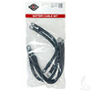 "Yamaha G14/G16 36V 94+, 4 Gauge Battery Cable Set, Includes  (3) 12"" (2) 9"" Black Cables"