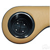 Two-Toned Padded Arm Rest Cup Holders-Black/Tan