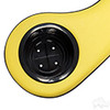 Two-Toned Padded Arm Rest Cup Holders-Black/Yellow