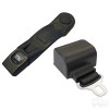 """Deluxe Retractable Seatbelt Black, 56"""" Fully Extended, 6"""" Sleeve"""