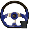 STEERING WHEEL KIT, BLUE/RACE 12.5 W/BLACK ADAPTER, E-Z-GO