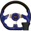 STEERING WHEEL KIT, BLUE/RACE 12.5 W/BLACK ADAPTER, YAMAHA
