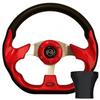 STEERING WHEEL KIT, RED/RACE 12.5 W/BLACK ADAPTER, CLUB CAR