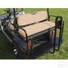 Club Car DS Super Saver Rear Flip Seat Kit for Golf Cart Tan Cushion