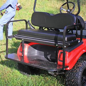 Club Car DS Super Saver Rear Flip Seat Kit For Golf Cart Black Cushion SEAT