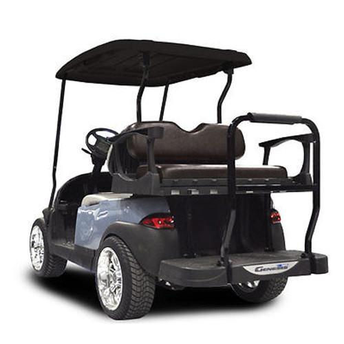 Genesis 300 Aluminum Golf Cart Rear Seat Black Cushion For a Club Car Precedent