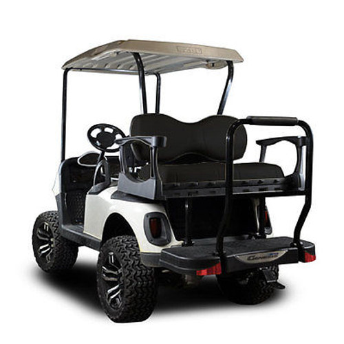 Genesis 250 Golf Cart Rear Seat Kit with Deluxe Black Cushions