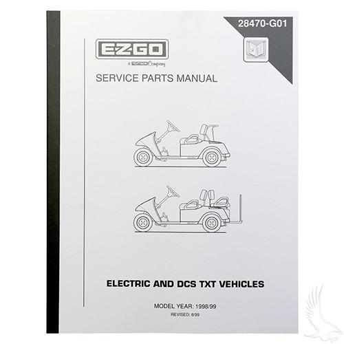 Service Manual E Z Go Dcs Electric 98 99