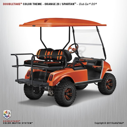 DoubleTake Spartan Golf Cart Body Kit for Club Car DS Orange